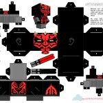 Planes para Peques.com Cubeecrafts recortable Darth Maul