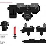 Planes para Peques.com - Cubeecrafts, recortable Darth Vader.