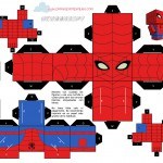 Planes para Peques.com Cubeecrafts recortable Spiderman